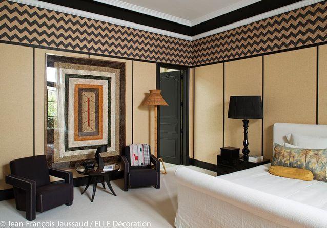 Une chambre rétro et exotique