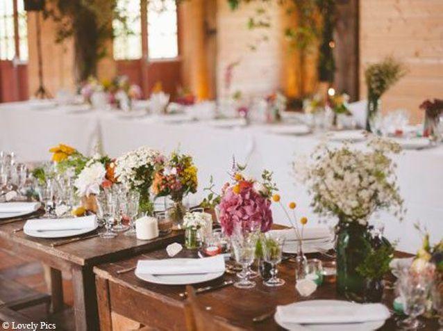 Multipliez les petits bouquets sur la table