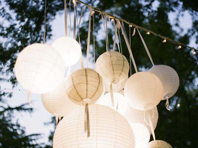 Des lampes en papier indoor et outdoor