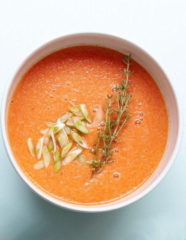 Recette minceur rapide : gaspacho pastèque-gingembre