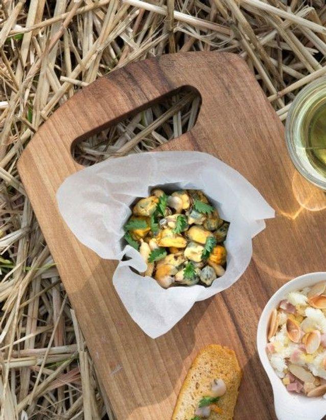 Recette minceur soir : coquillages en vinaigrette aux herbes
