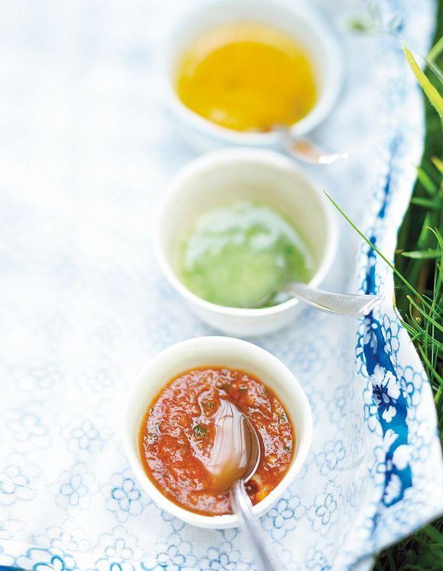 Soupe minceur en gaspacho jaune