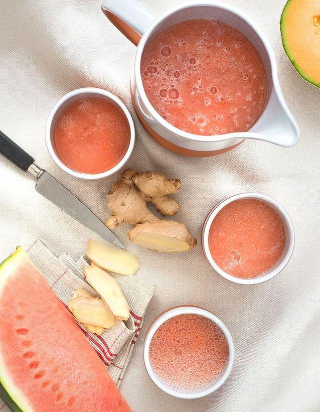 Soupe minceur gaspacho pastèque-melon