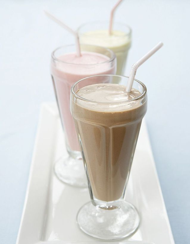Un milk-shake fruité
