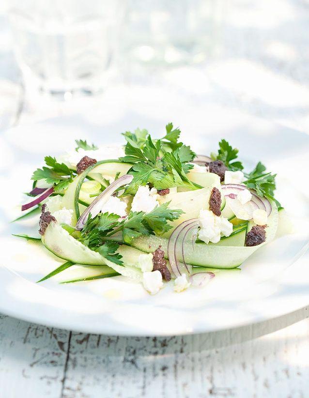 Tartare de légumes au chèvre frais, huile d'olive