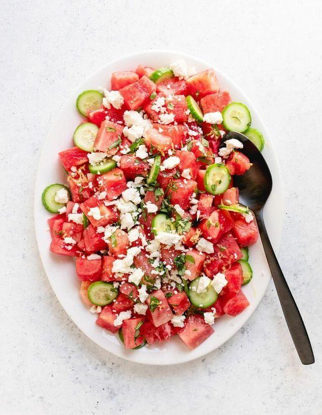 Salade healthy pastèque feta