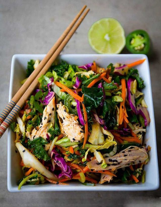 Salade healthy : salade thaïe