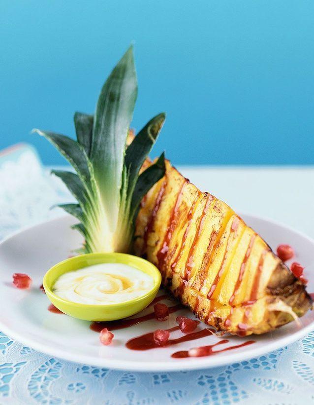 Dessert léger : Ananas grillé à la vanille et citron vert