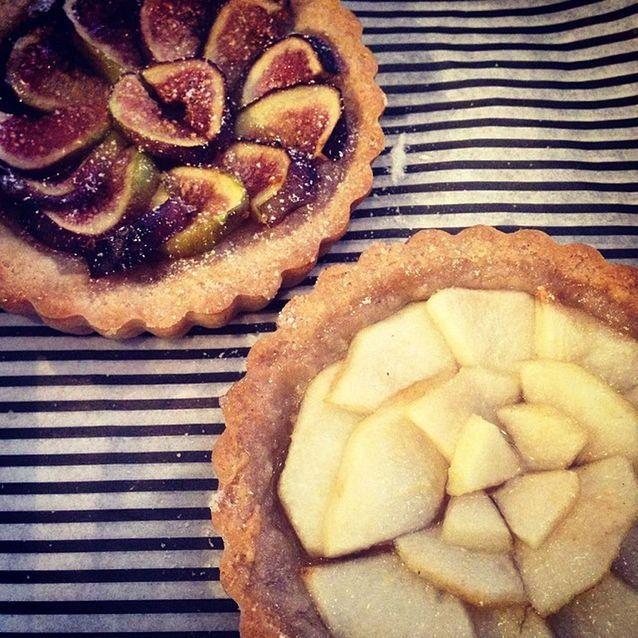 Les tartelettes aux figues et aux poires de Jennifer Esposito