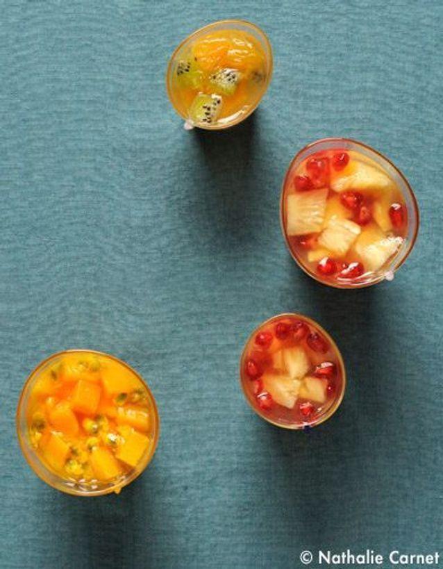 Fruits en gelée d'agar-agar