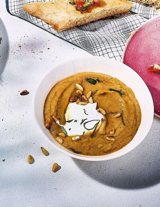 Cuisine recettes été grandes tablées : Baba ghanoush de courgettes et yaourt de brebis