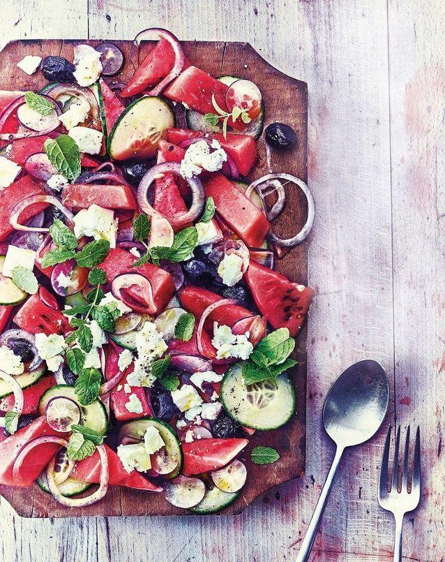 Cuisine recettes été grandes tablées : « Chopped salad » comme une salade grecque