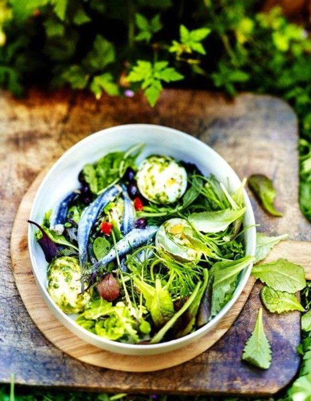 Cuisine recettes été grandes tablées : Salade du Sud aux sardines