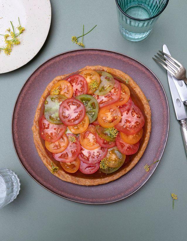 Cuisine recettes été grandes tablées : Tatin de tomates
