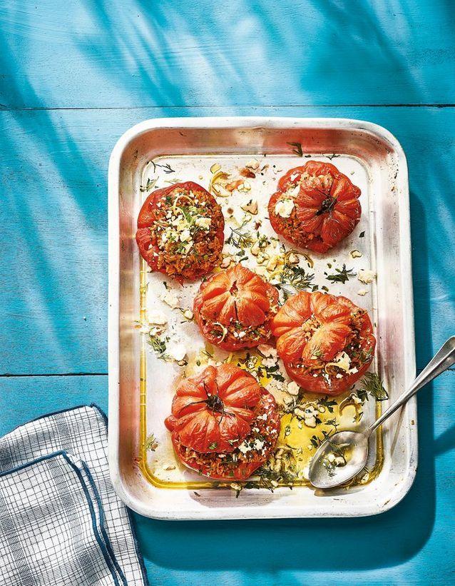 Cuisine recettes été grandes tablées : Tomates farcies à la grecque