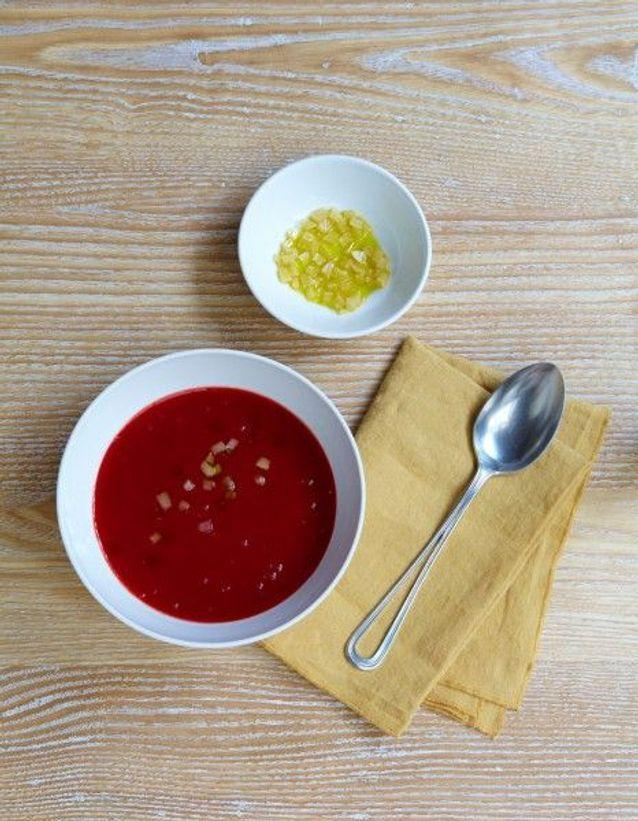 Soupe de légumes : Soupe de betterave au citron confit