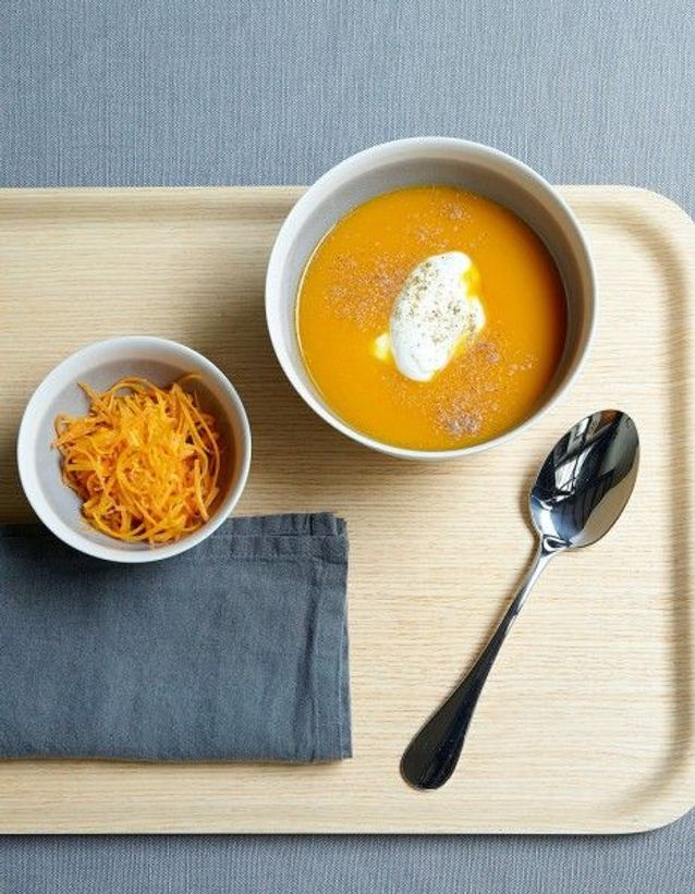 Soupe de légumes : Soupe de carottes et mimolette