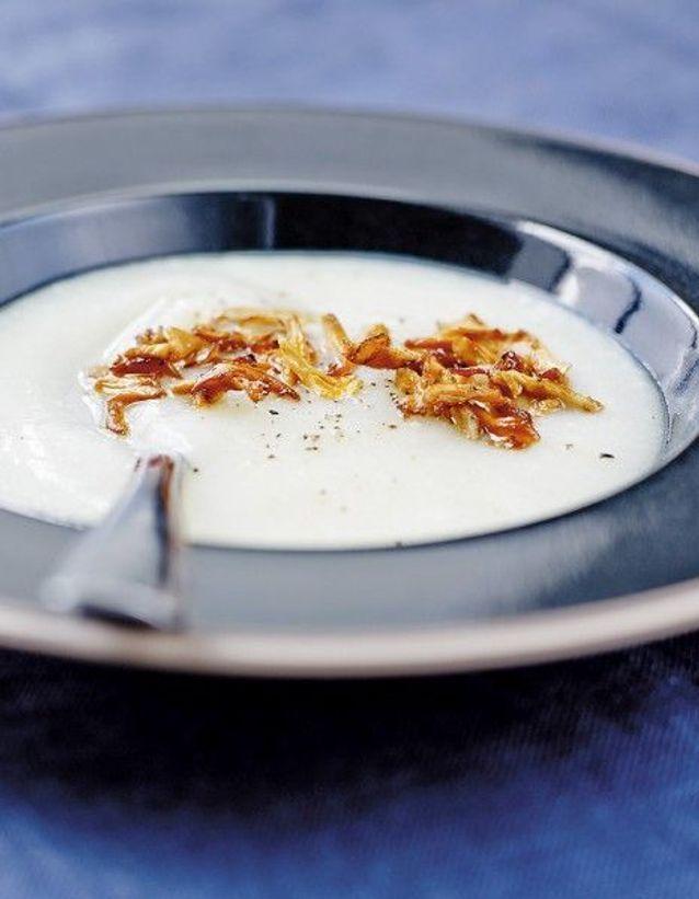 Soupe de légumes : Soupe de panais et chou-fleur aux girolles
