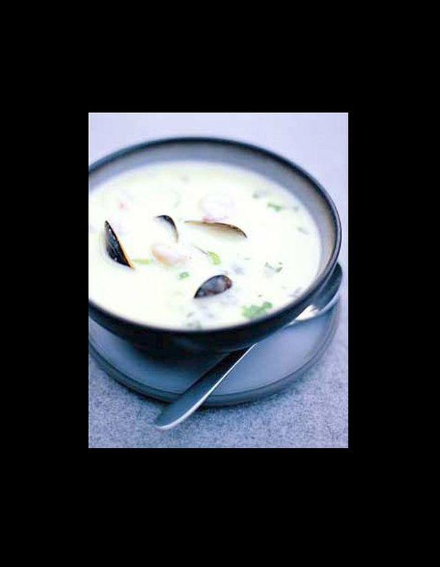 Soupe de poisson et de moules