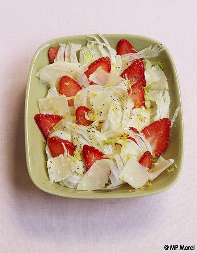 Salade blanche et rouge