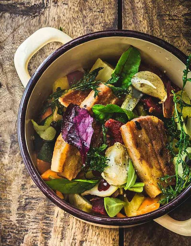 Cocotte de légumes d'hiver au porc