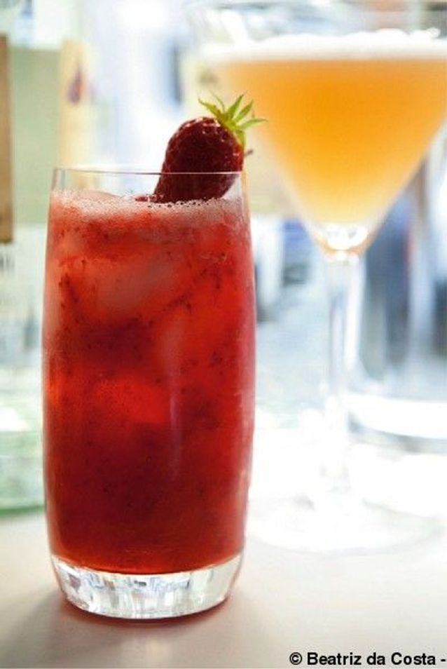 Cocktail strawberry cooler