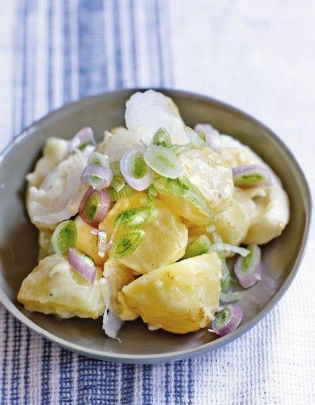 Salade de pommes de terre œufs et mayo blanche aux herbes