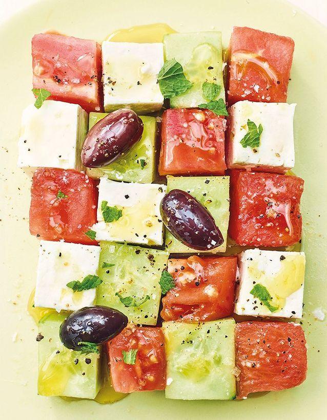 Salade grecque en cubes