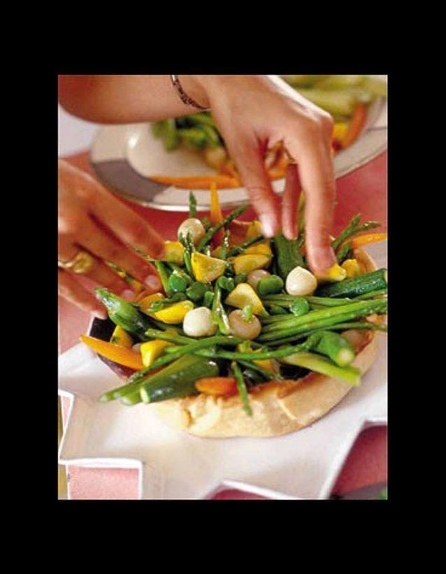 Tarte aux légumes et chèvre frais