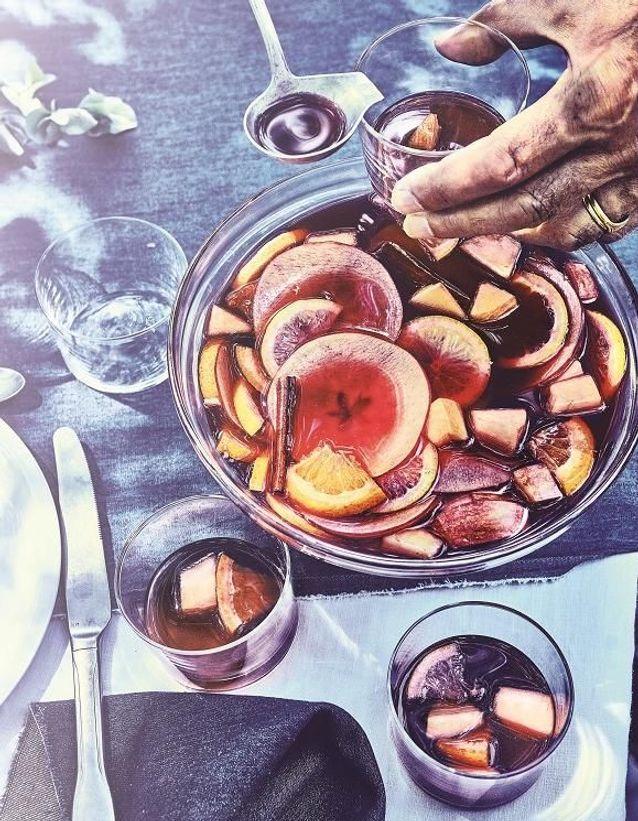Sangria de fruits d'automne