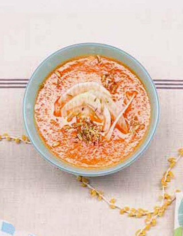 Jus de carotte au melon et fenouil grillé