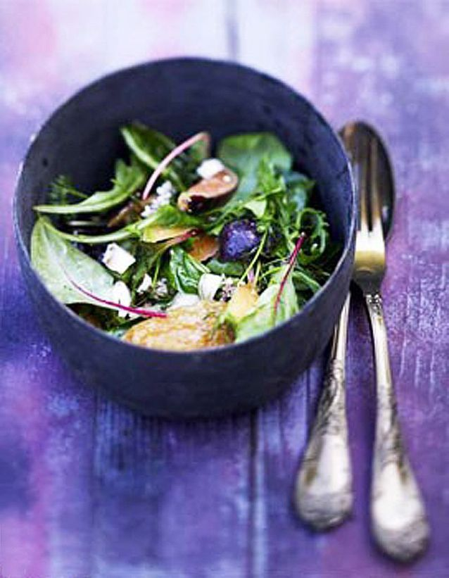 Salade de figues, jambon de Parme, melon, feta