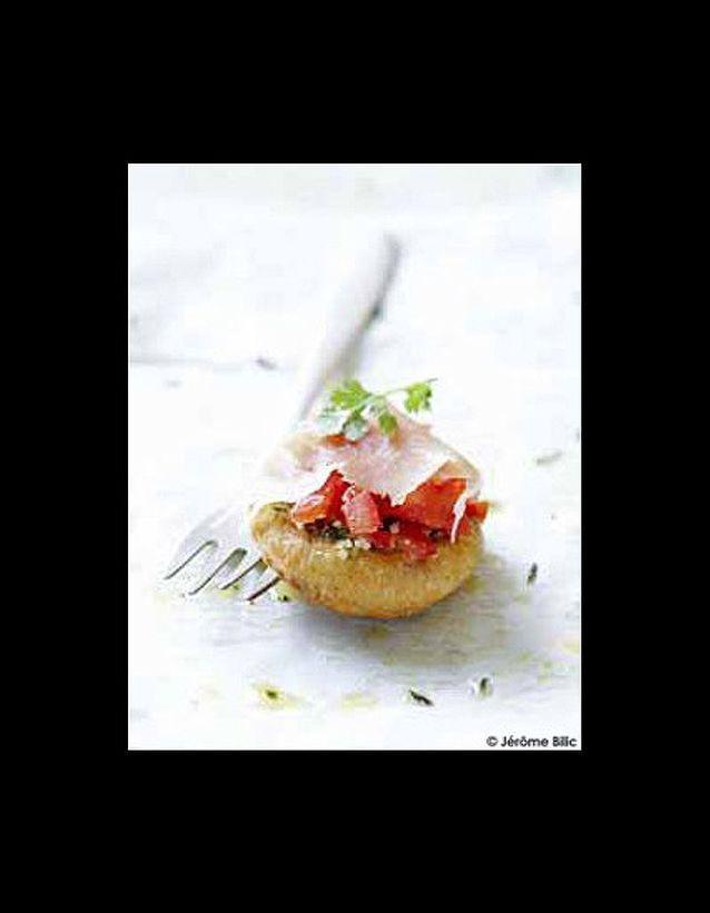 Bouchées tomates concassées-jambon