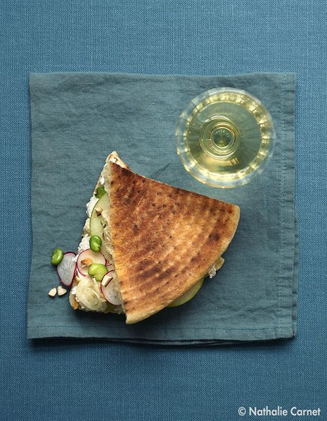 Sandwich au chèvre frais