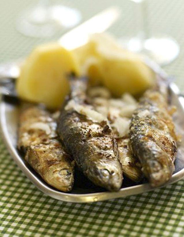 Sardines grillees a l ail et a l origan