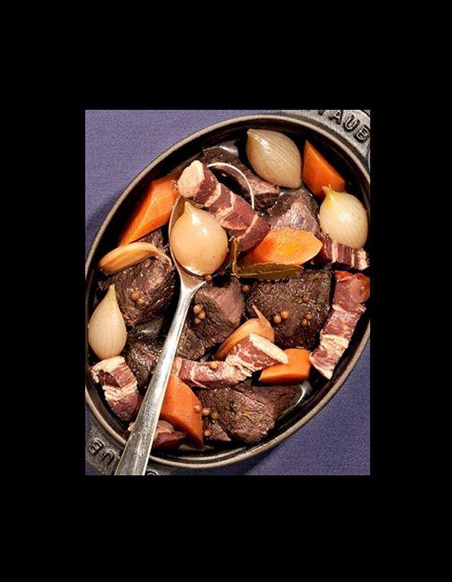 Bœuf mijoté en cocotte