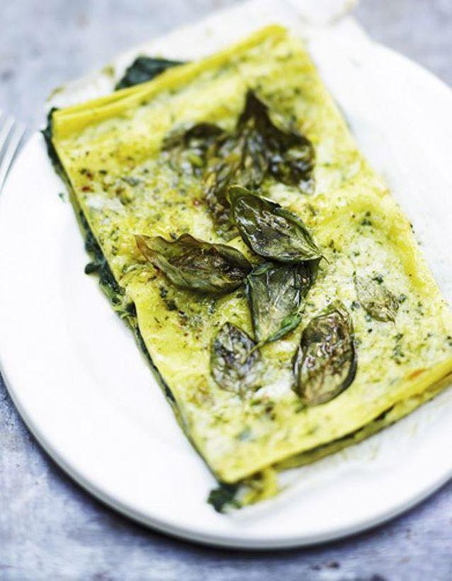 Lasagnes ricotta basilic