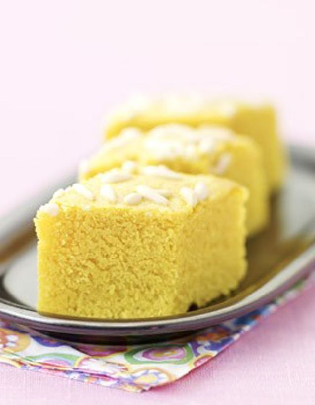 Gâteau de semoule safrané