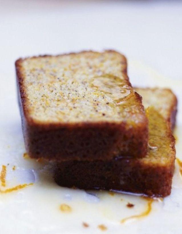 Cake carotte, glaçage orange