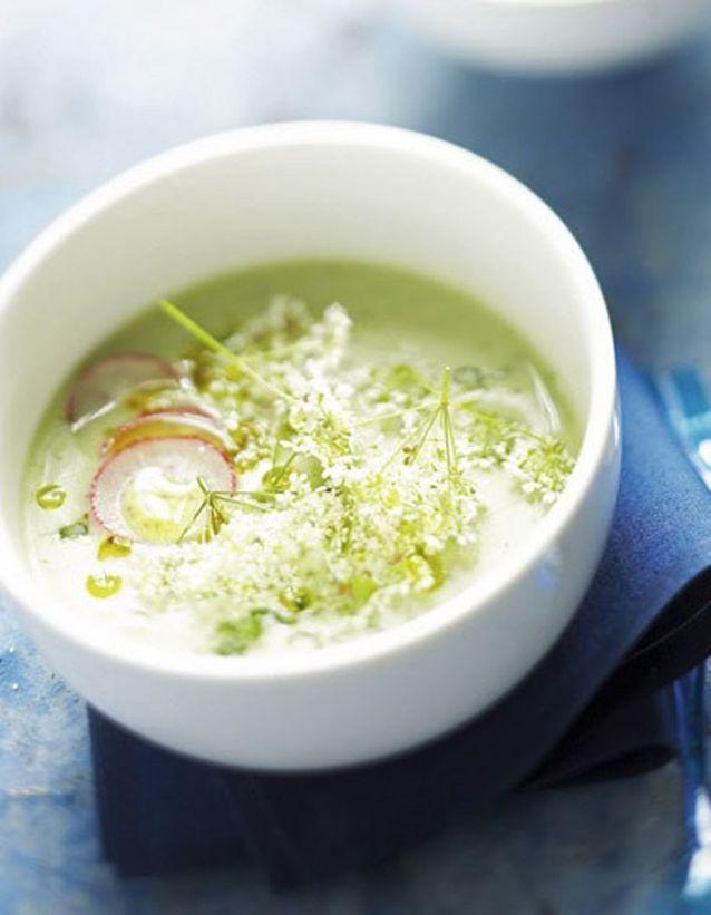 Soupe de concombre et radis
