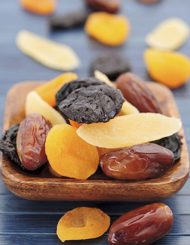Les fruits secs et les oléagineux, riches en potassium