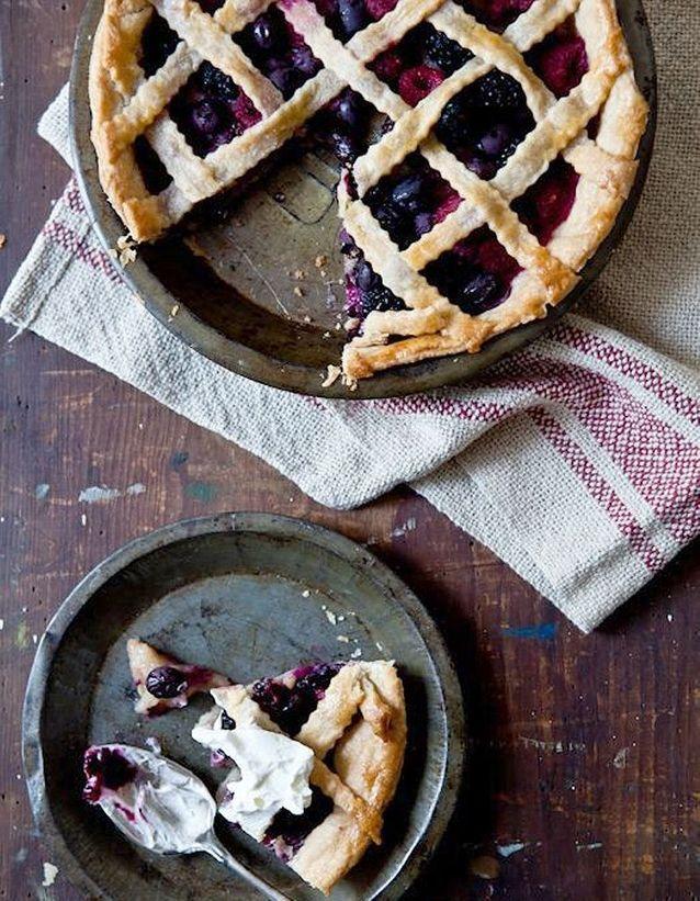 Blueberries pie