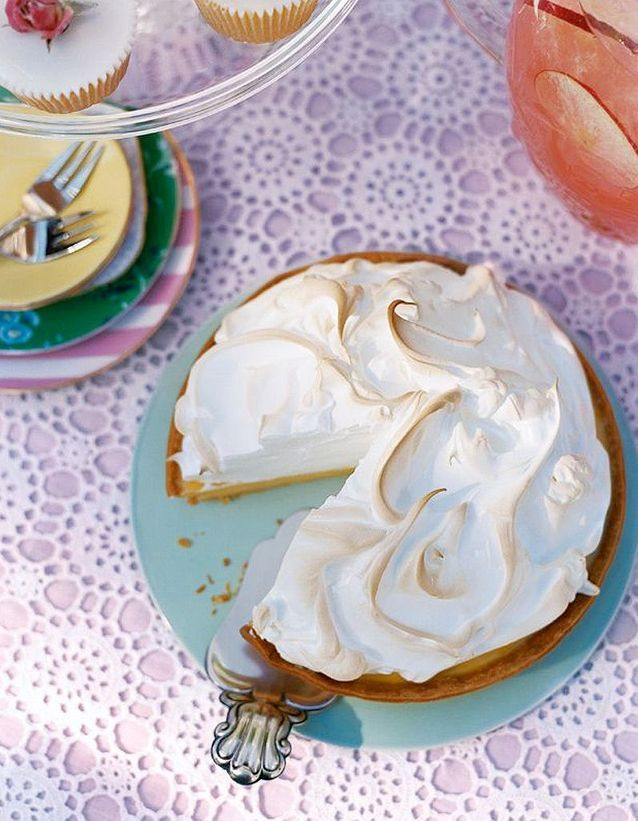 Lemon meringue pie (Tarte au citron meringué)