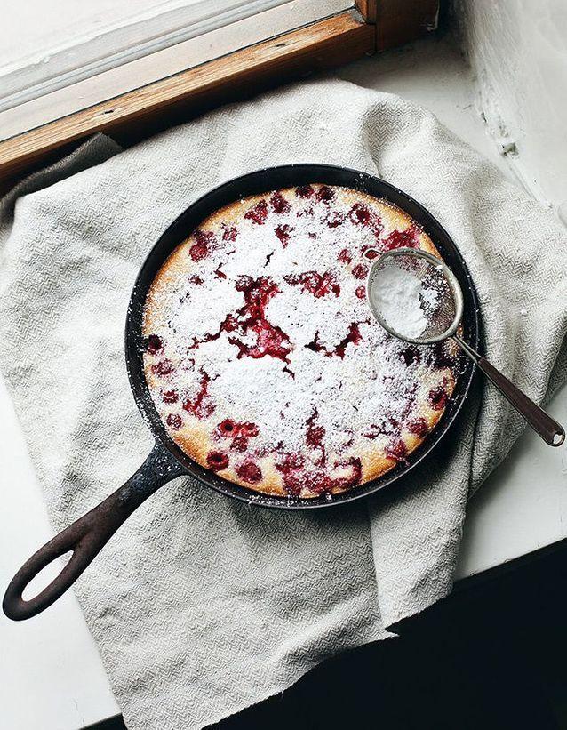 Raspberries pie (Clafoutis aux framboises)