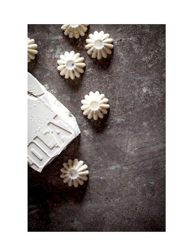 Ganaches de chocolat blanc