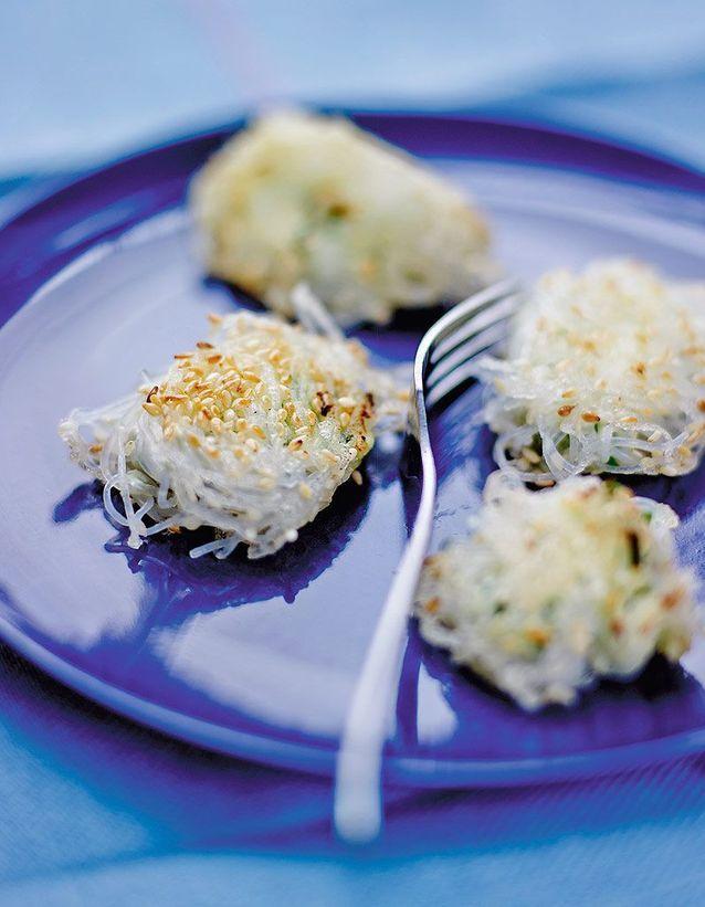 Bouchées de vermicelles de soja au fromage frais