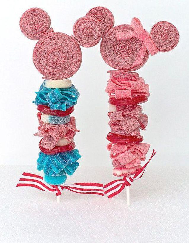 Brochettes de bonbons Minnie