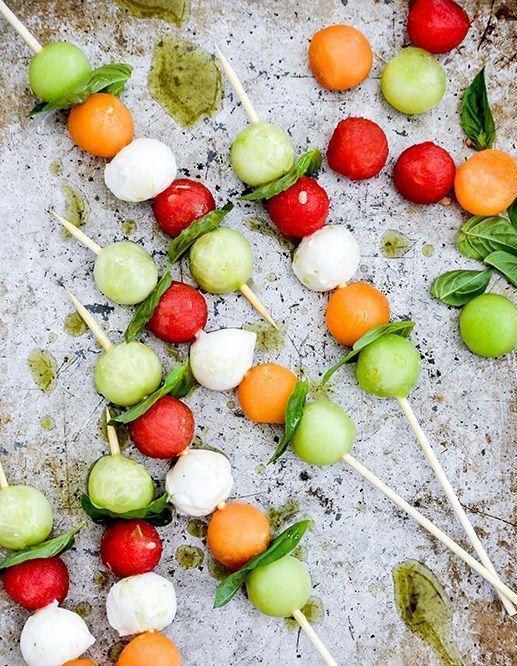 Brochettes apéritives melon