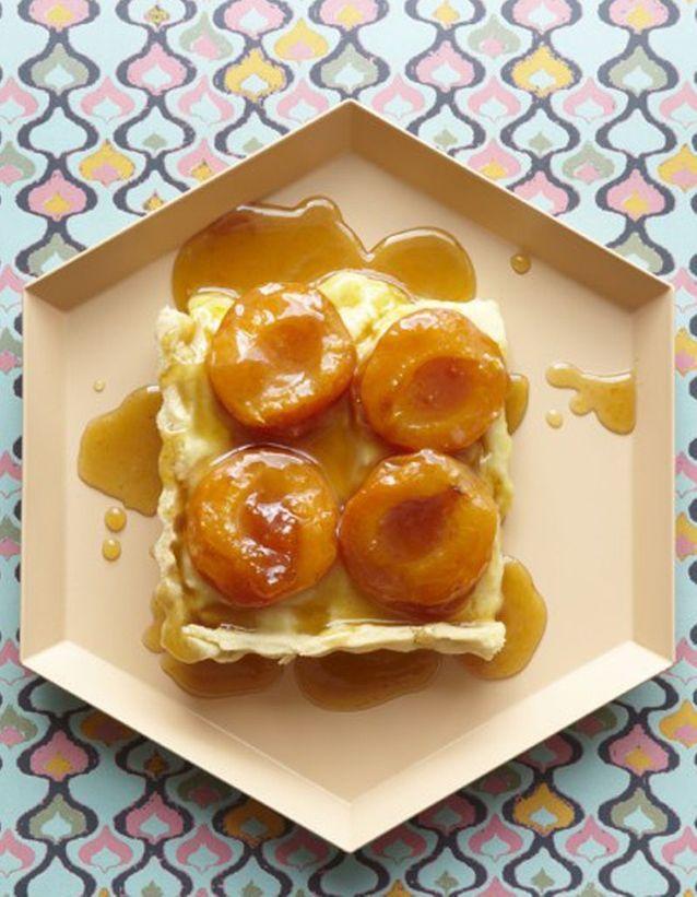 Tarte aux abricots caramélisée
