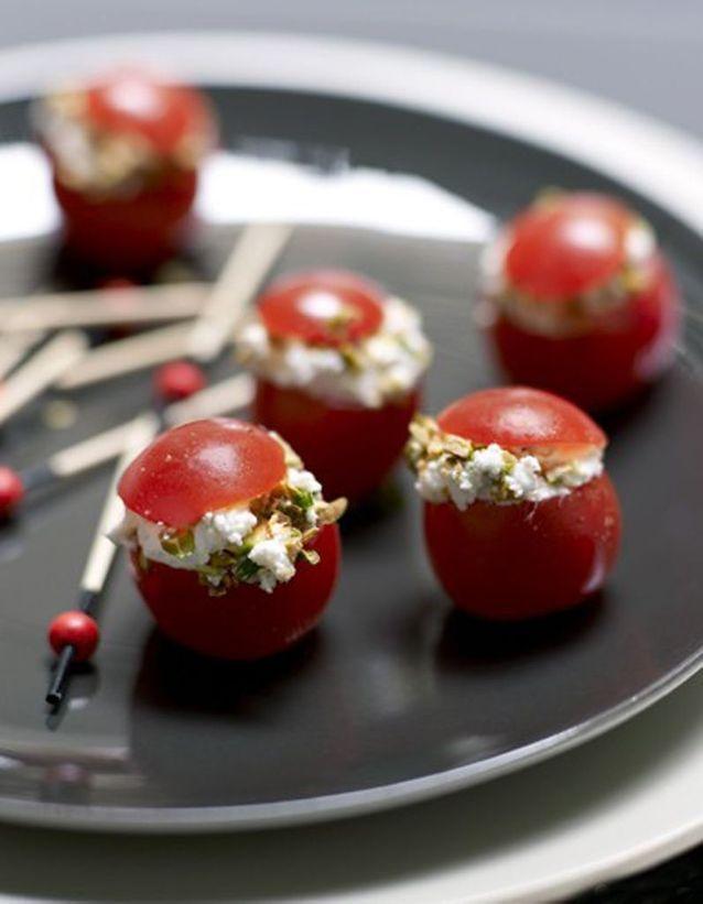 Tomates-cerises au chèvre